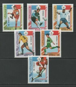 Thematic Stamps Sports - SOMALI REP 1998 FRANCE FOOTBALL 6v mint