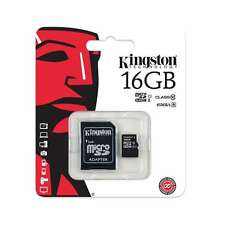 Kingston 16 GB, Class 10 - Micro SDHC Memory Card - With SD Adapter - High Speed