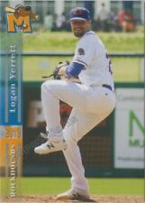 2019 Midland RockHounds Logan Verrett RC Rookie Oakland Athletics