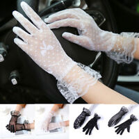 Women Summer Sunscreen Gloves Fashion Lace Embroidered Gloves New Driving Gloves