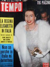 TEMPO n°19 1961 Gina Lollobrigida - Regina Elisabetta - La Rivoluzione CUBA[C86]