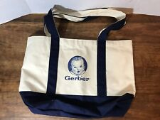 Gerber Brand Baby Large Navy Blue Canvas Bucket Tote Bag