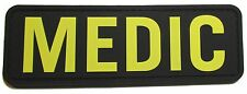 3D PVC MEDIC XL PARAMEDIC EMT EMS RESCUE FIRST RESPONDER VELCRO® GOLD SWAT PATCH