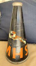 Vintage Cheerleader Band Leader Megaphone Mhs Tigers Black & Orange 15� X 8�