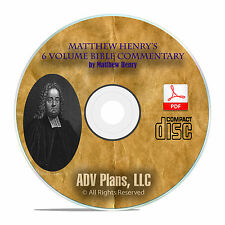 Matthew Henry's Whole Bible Commentary, Christian Scripture Study CD PDF F04