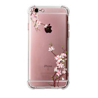 Shockproof Rugged Floral Soft TPU Back Cover Clear Case For iPhone 6s 6 7 Plus