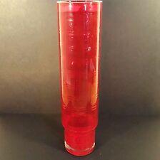 Vintage Scandinavian Alsterfors Red Cased Glass Vase Designed Fabian Lundqvist