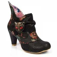 Irregular Choice Miaow - Black Satin (textile) Womens BOOTS 37 EU