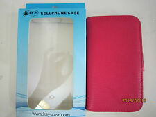 Kay's/KaysCase Book Snap-on Leather Cover Case for Galaxy S3 (Hot Pink)1 unit