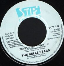 "BELLE STARS sign of the Times UK acheter 167 noc 7"" WS EX/"