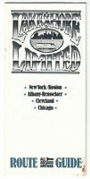 [27059] AMTRAK TRAINS LAKESHORE LIMITED CIRCA 1980s ROUTE GUIDE