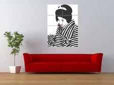 Japan Geisha Lipstick Zebra Stripes Giant Wall Art Poster Print