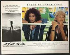 Micole Mercurio as Babe Cher as Rusty Dennis in Mask 1985 UK. lobby card 1859