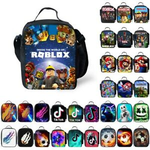 Boys Girls Roblox Lunch Bags Insulated Cool Bag Picnic Bags School Lunchbox Gift