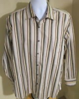 Men's Large Tommy Bahama Silk Blend Long Sleeve Button Down Shirt