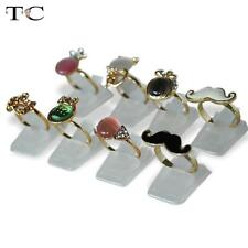Wholesale 50pcs Clear Plastic Ring Holder Jewelry Display Stand Clip Organizer