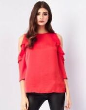 BNWT* Lipsy * Size 8 Cold shoulder Ruffle  top blouse, New, Beautiful