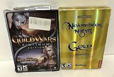 LOT 2 👉Neverwinter Nights Gold PC, ATARI & GUILD WARS Platinum Edition NCSOFT