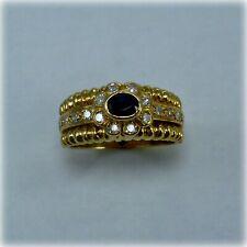 14ct Gold Sapphire & Diamond Dress Ring