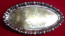 Schnaps Tablett Silber Durchbruch Floral England Schweiz Tschechien Art Deco