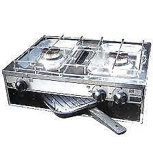 Stainless Steel 2 Burner Hob & Grill c/w flame failure