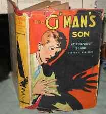 Vintage 1937 THE G'MAN'S SON PORPOISE ISLAND Book HBDJ Mystery  Warren Robinson
