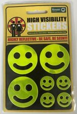 High Visibility Stickers Highly Reflective Weather-Proof Adhesive Sticker Smiley