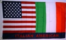 USA and Italy Friendship Italian American Flag Polyester 3 x 5 Foot Friend New