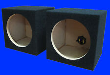 "TWO 8"" MID RANGE MID BASS BLACK SPEAKER ENCLOSURE BOX BOXES"