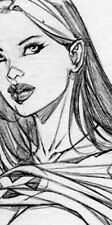 HOT ROGUE TOPLESS GIRL SK#1302 FANTASY ORIGINAL PINUP GIRL ART by ALEX MIRANDA