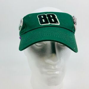 Dale Earnhardt  JR #88  Nascar  Sun Visor  Ball Cap Hat Green with 4 Buttons