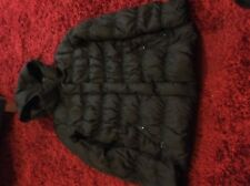 Ladies Duck Down Black Jacket By Mango Size Medium.