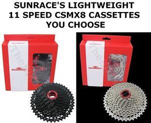 SunRace CSMX8 11 Speed 11-40 11-4211-46 11-50 Wide Bike Cassette Shimano SRAM 1X