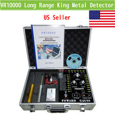 VR10000 Long Range Underground  Gold Gem Metal Detector Silver,hunter finder