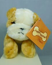 """Bulldog """"Buff"""" is a light brown & white small stuffed dog- New by Bestever #7732"""