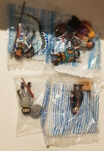 Playmobil wild west 6 figures, cowboys, sheriff, indian & Confederate officer