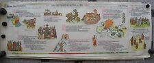 Tableau Geschichtsfries Chevalier Moyen Âge 139x50 Vintage Moyen Ages Mural Map