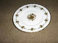 T GOODE & CO LTD AUDLEY ROSE CHINA PLATE-WHITE WITH GOLD COLOURED DECORATION