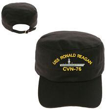 USS RONALD REAGAN CVN-76 MILITARY CADET ARMY CAP HAT HUNTER CASTRO