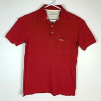 RM Williams Stockyard Red Polo Shirt Size Men's Small