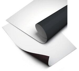 Magnetfolie weiß, bedruckbar, 0,55 mm  x 1020 mm breit (12 € / Meter)