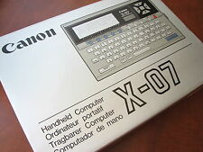 Very RARE NEW in box NOS 1983 Classic Canon-X07 LCD Basic Pocket Computer