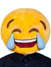 Emoji smiley pleurer de rire plush Masque Accessoire headpiece drôle stag adulte