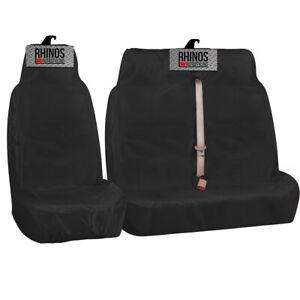 FORD TRANSIT CUSTOM 2021 - Black Heavy Duty Van Seat Covers 2+1 100% WATERPROOF
