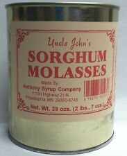 Uncle Johns Sorghum Molasses in a Metal 39 Ozs Can