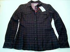 REPLAY Blusa De Mujer TEENS talla XS (32/34) Negras Nueva w2463 con seda