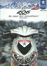 PEUGEOT SCOOTER REPLICA 206 WRC SPEEDFIGHT 2  PROSPECTUS BROCHURE 2001