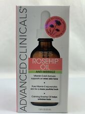 Advanced Clinicals Rosehip Oil Anti Wrinkle Oil 1.8 Fl Oz (53mL) new Sealed