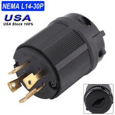 NEMA L14 30P 30A 125V-250V 4-Wire Twist Lock Electrical Plug Connector Copper US