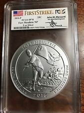 New 2016 P America The Beautiful 5oz Silver -  SP70 Fort Moultrie Mercanti FS